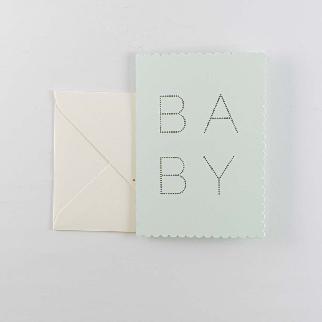 Greeting Card -Luxe Baby Green