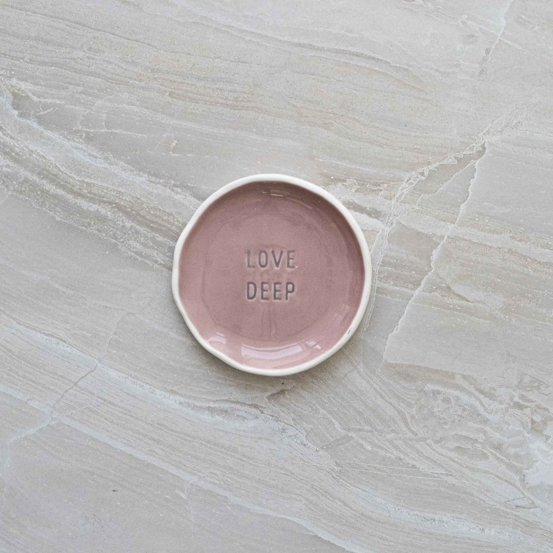 CERAMICTRAY - CANV LOVE DEEP ORGANIC STAMPED