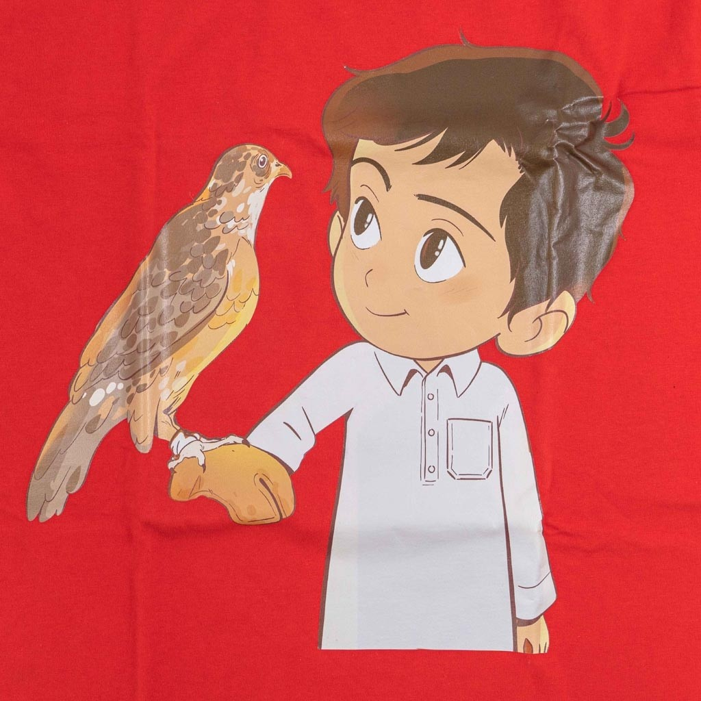 Tshirt - Red - Nasser With The Falcon - 7-8