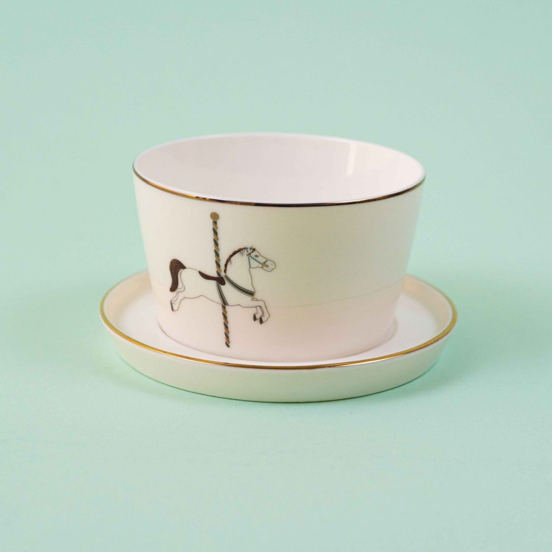 BOWL MEGHLE WITH SAUCER CAROUSEL - SINGLE