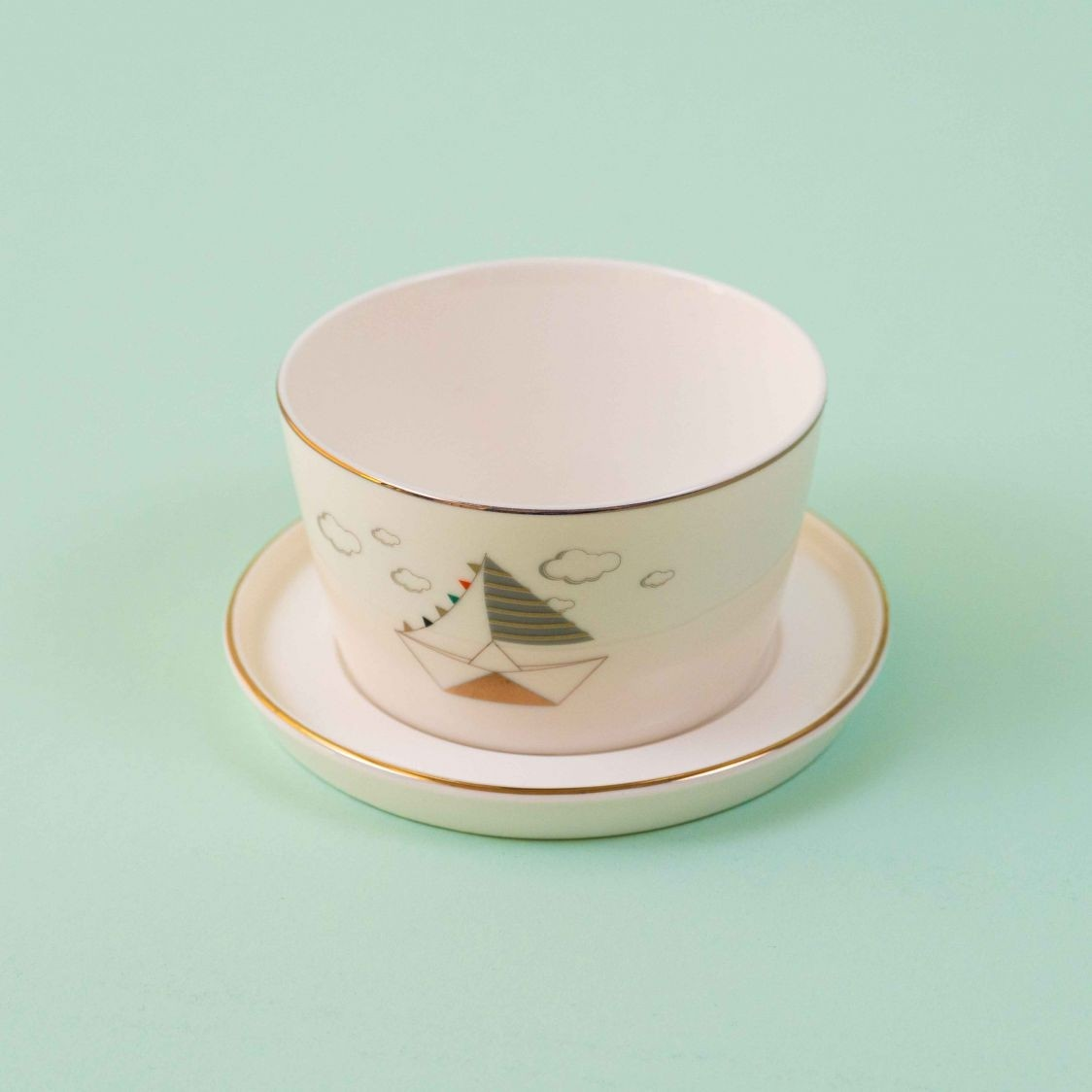 BOWL MEGHLE WITH SAUCER BOAT SINGLE