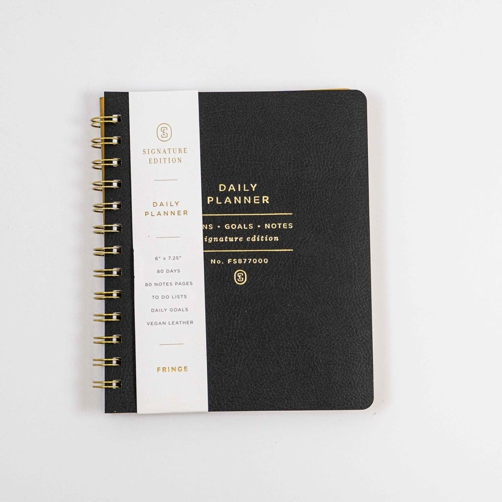 Faux Leather Nondated Day Planner