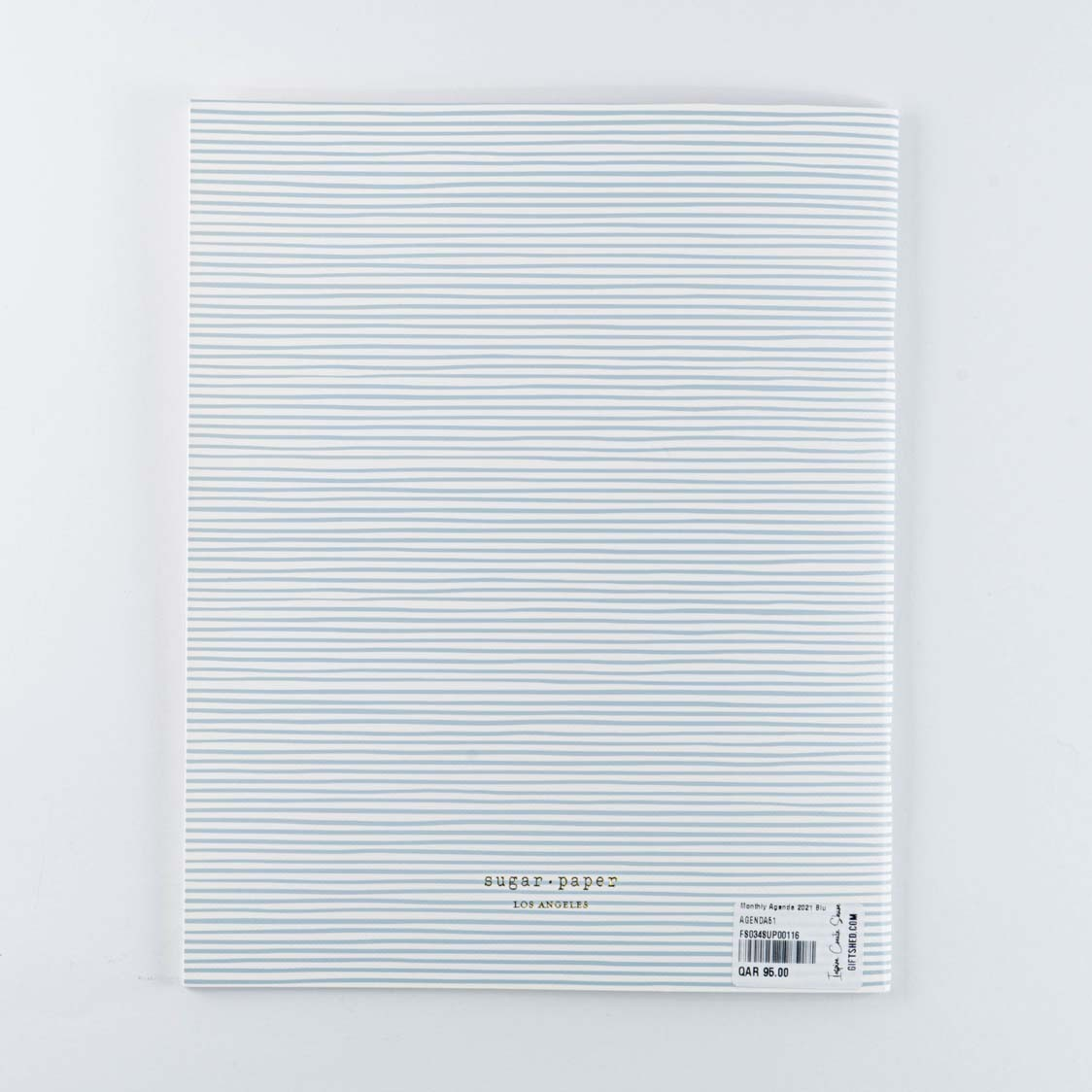 Monthly Agenda 2021 Blue Painted Stripe