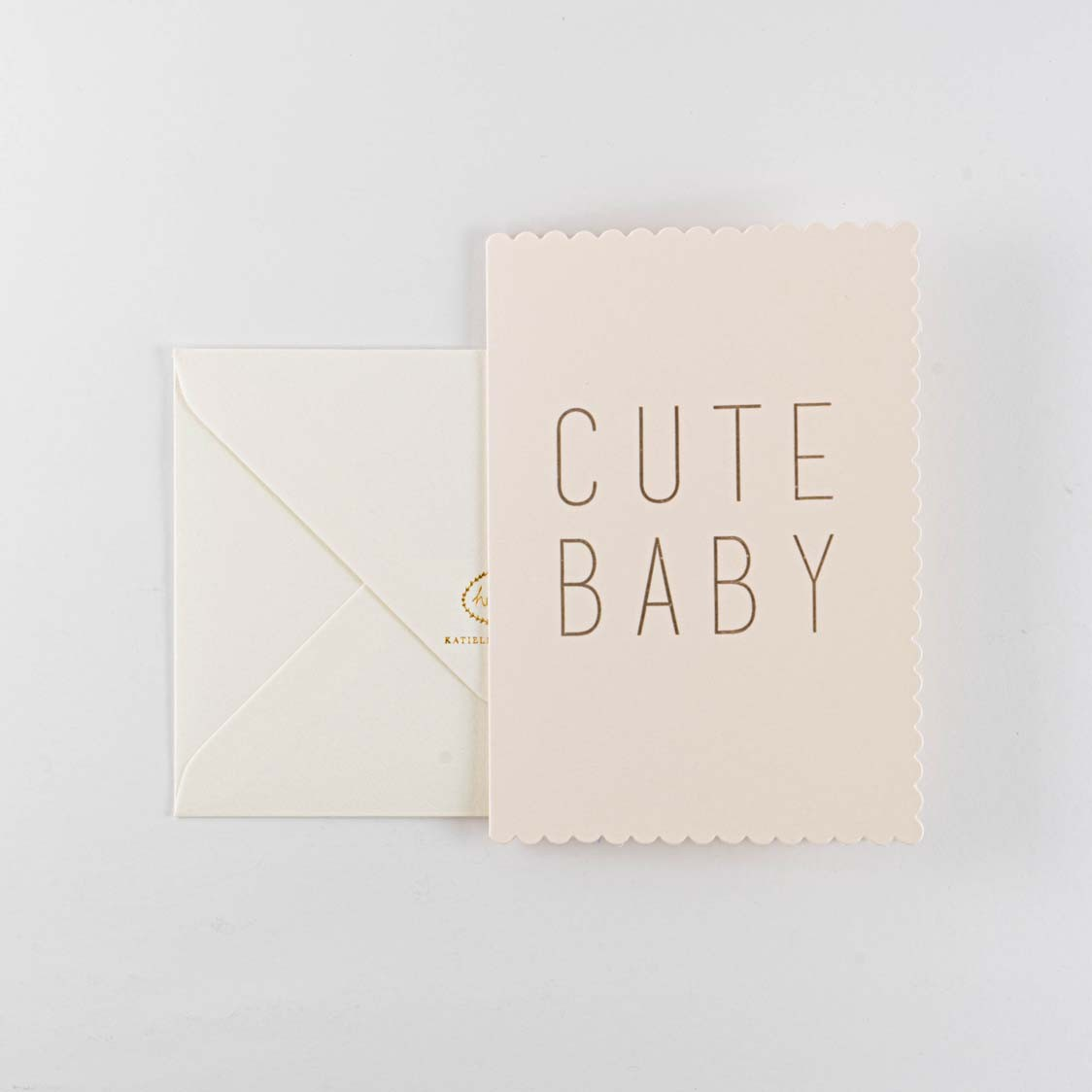 Greeting Card -Cute Baby Pink