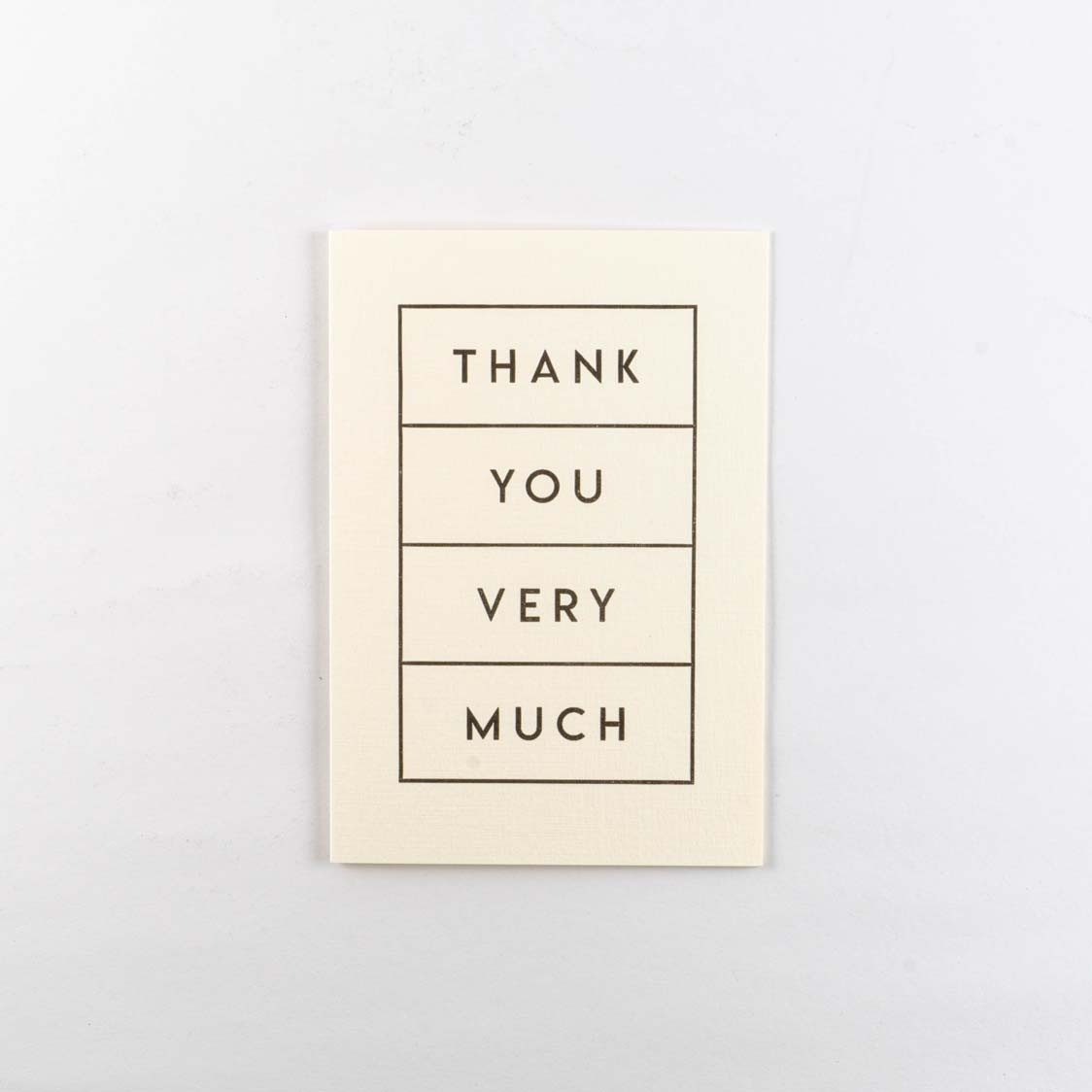 Greeting Card -Thank You Boxed
